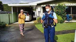 New Zealand Police deliver chocolates to Hastings woman spending her 70th birthday alone