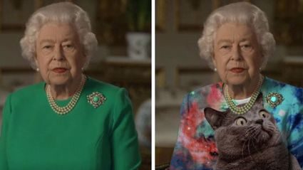 The Queen of England gave a speech in a green dress and photoshoppers around the world have had a feild day!