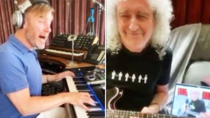 Queen's Brian May and Gary Barlow perform EPIC live virtual duet of The Beatles' 'Get Back'