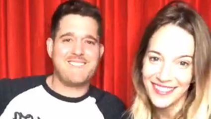 Michael Bublé's daughter makes rare appearance on live stream giving fans their first look at the tot