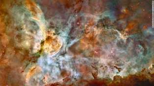 The Hubble Space Telescope captured this 50-light-year-wide view of the central region of the Carina Nebula, where a maelstrom of star birth — and death — is taking place. Image supplied by NASA.GOV