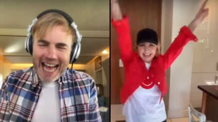 Lulu performs upbeat virtual duet of Elton John's 'I'm Still Standing' with Gary Barlow
