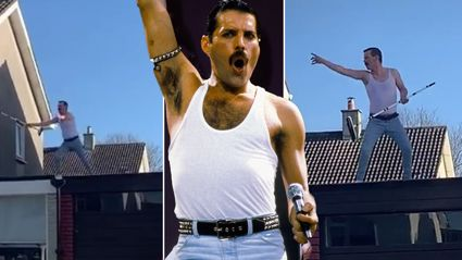 Dublin man entertains neighbours with impressive Freddie Mercury impersonation from rooftop