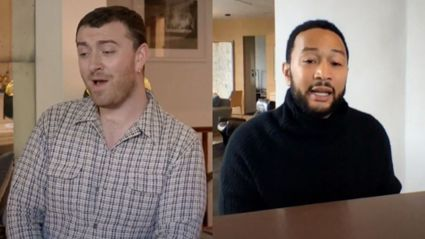 John Legend and Sam Smith sing incredible powerhouse duet of Ben E. King's 'Stand By Me'