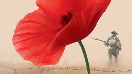 Help line the streets with poppies this Anzac Day with this special Anzac poster