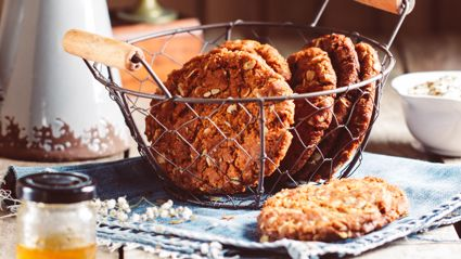 Allyson Gofton shares her chocolate Anzac biscuits recipe