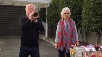 Timaru man with dementia performs haunting rendition of the 'Last Post' to honour our war heroes
