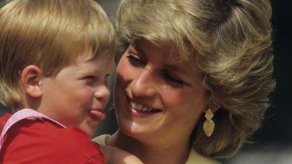 Rare footage of Princess Diana competing in a running race for Prince Harry has surfaced online