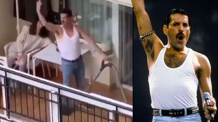 French man entertains neighbours with hilarious Freddie Mercury impersonation from balcony
