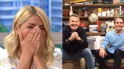 Holly Willoughby was left red-faced after being prank called by Bradley Walsh on live TV!