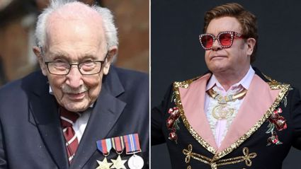 Elton John pays heartfelt tribute to WWII veteran Captain Tom Moore after he raised over £26million