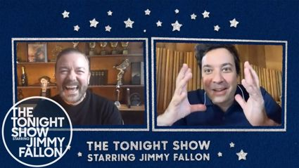 Ricky Gervais tells people to 'Get Their Priorities straight' in a Hilarious interview with Jimmy Fallon