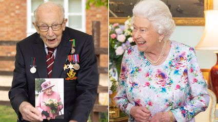 Queen Elizabeth sends Captain Tom Moore a very special message in 100th birthday card