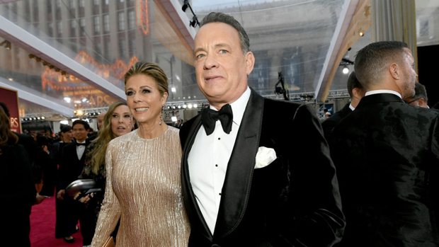 Hanks and wife Rita Wilson contacted the virus whilst filming in Australia / Getty Images