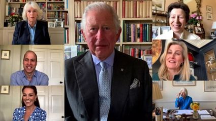 The Queen, Prince Charles and the Cambridges unite over rare video call to pay tribute to nurses