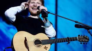 Ed Sheeran shows school children in isolation how to play hit song