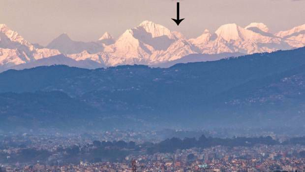 Many said the photo showed how well nature was healing amid the pandemic, while others never thought they'd see this view of Everest again. Photo from NZ Herald
