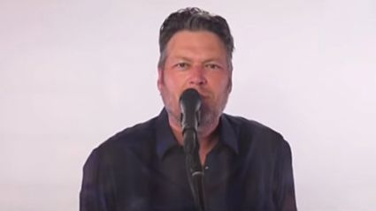 Blake Shelton puts a country spin on his rendition of Fleetwood Mac's 'Don't Stop'