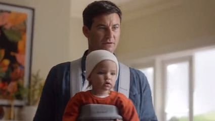 "Audible advert featuring Clarke Gayford and ""baby Neve"" has been banned from TV in Australia"