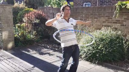 The Chase's Paul Sinha shows off hula-hoop skills amidst battle with Parkinson's disease
