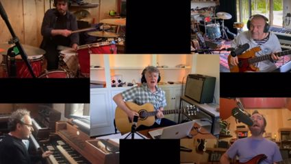 Crowded House reunite over video to perform awesome rendition of 'Something So Strong'