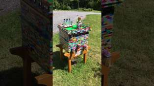 This incredible beehive is made completely out of Lego!