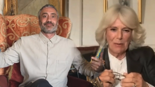 Taika Waititi and the Duchess of Cornwall read 'James and the Giant Peach'