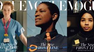 British Vogue Features Frontline Workers on their Latest Covers