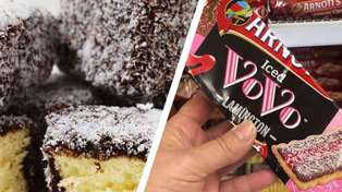 It turns out chocolate lamington-flavoured Iced Vovo biscuits exist and we want to try them
