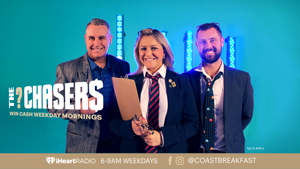 """Win cash with with Toni, Jase & Sam's """"The Chasers"""""""