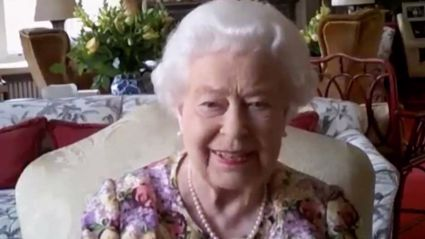 Queen Elizabeth II surprises a group of carers in her first public video call