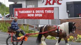 Man with horse and cart furious after being refused service at KFC drive-thru