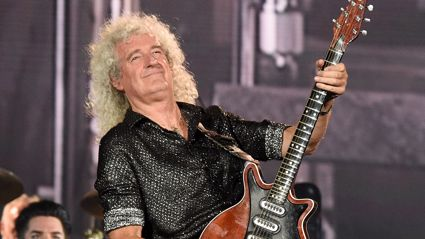 Queen's Brian May performs guitar solo for fans for the first time following heart attack