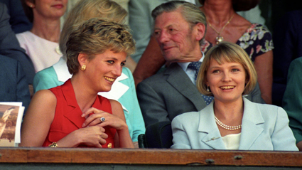 Princess Diana and Julia Samuel / Getty Images
