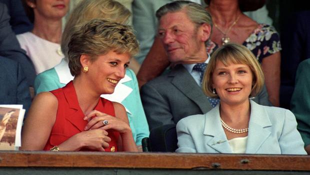 Princess Diana and Julia Samuel / Getty Images