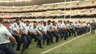 Emotional moment NZ Police perform powerful haka for fallen colleague Constable Matthew Hunt