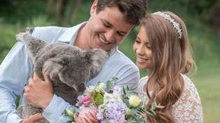 Bindi Irwin left in 'tears' over artist's stunning wedding portrait featuring Steve Irwin