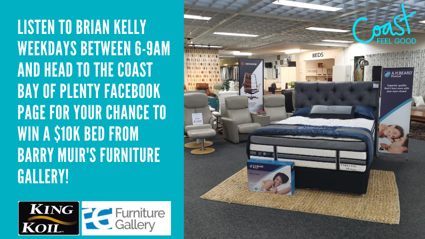 BAY OF PLENTY: Win a $10,000 bed thanks to Barry Muir's Furniture Gallery