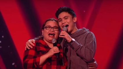 Joshua and his mum wowed the judges with their duet. ITV/The Voice