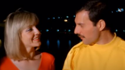 Freddie Mercury sings to the 'love of his life' Mary Austin in vintage footage from 1986