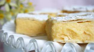 Allyson Gofton shares her super easy liquor-infused lemon custard slice recipe