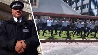 New Zealand Police perform powerful haka in memory of fallen colleague Sergeant Matt Ratana