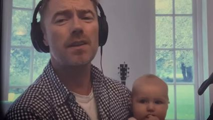 Ronan Keating's baby Coco steals the show as he performs cover of John Lennon's 'Woman'