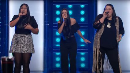 Country trio wow The Voice coaches with stunning three-part harmonies in Linda Ronstadt cover