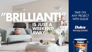 Take on any project with Dulux and win!