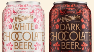 Whittaker's unveils new limited edition white chocolate and dark chocolate beer
