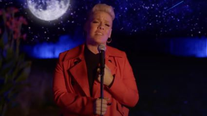 Pink performs beautiful, soulful rendition of 'A Million Dreams' from The Greatest Showman