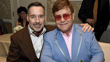 Elton John's husband David Furnish shares rare photo from their wedding day to mark anniversary