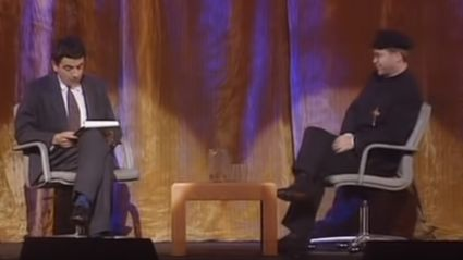 WATCH: The hilarious 1991 video of Rowan Atkinson interviewing Sir Elton John