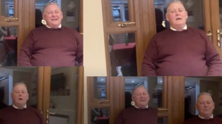 Irish dad goes viral with uncontrollable laugh while recording son's birthday message